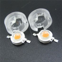 Lente led de 15 grados online-Lente mini LED IR de 13 mm 15 30 45 60 90 Soporte integrado de 100 grados, 1W 3W 5W Sintético LED Lentes de potencia Reflector colimador