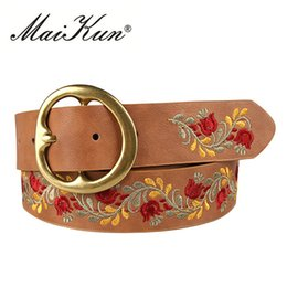 Nouvelle fleur en cuir ceintures pour femmes ceinture style obi corset ceintures de luxe ceinture féminine pour la robe de soirée conception de broderie ? partir de fabricateur
