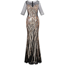 af798bdd98e72 half sleeve maternity dresses Coupons - Angel-fashions Women's Half Sleeve  See Through Voile Sequins