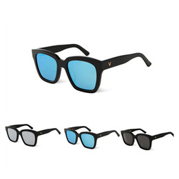 korea sunglasses Coupons - Vintage Polarized driving Sunglasses women men Brand Designer V Logo Korea Bigbang Dreamer Hoff Square frame UV UVB protection