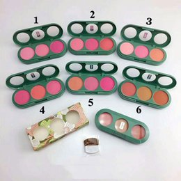 Wholesale face blusher - New arrival makeup cheek pop Blush Face Powder 3colors in 1 Palette 6sets colors Face Blusher DHL free shipping 209#