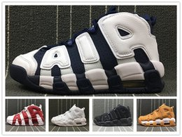 Wholesale red chi - 2018 Durable 96 QS Olympic Varsity Maroon Men Women Basketball Shoes CHI black gold Airs 3M Scottie Pippen Uptempo Sports Sneakers 36-48