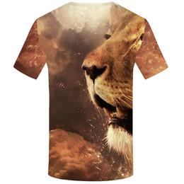 Wholesale gothic men clothing - KYKU Tiger T shirt Animal 3d T-shirt Punk Print Shirts Gothic Plus Size Mens Clothing Funny Tshirt Men Short Sleeve Big Slim