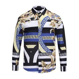 новый мужской дизайн Скидка Новая мода повседневная рубашки мужская роскошный суд барокко рубашка мужская уникальный дизайн 3D печатных рубашка мужская с длинным рукавом