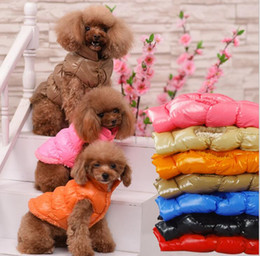 Wholesale Vest Warmer - Winter Warm Pets Dog Coat Puppy Thick Jacket Apparel casual Puppy vest warm cotton dog clothing winter pet apparel KKA3917