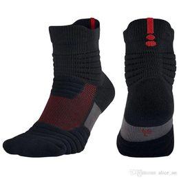 college football socks UK - HOT! Men Elite Outdoor Sports Basketball Socks Professional Cycling Socks Thicker Towel Bottom Non-slip Male Compression Men's S