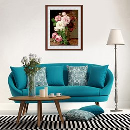 Wholesale Photo Gifts Canvas - Cheap canvas Pretty Flower DIY Digital Canvas Oil Painting Frameless Photo For Artwork Living Room Decor Nice Gift