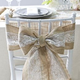 cadeira de casamento de cetim cobre rosa Desconto Serapilheira Cadeira Sash Laços para Banquete Festa de Casamento Artesanato Tampa Da Cadeira Decoração Suprimentos Dia Dos Namorados Atacado 2018