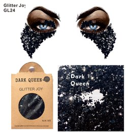 Wholesale Cosplay Makeup - GL24 one pack of Black Dark Queen Cosplay Body Glitter for Punk Makeup Night Club and gift at Christmas