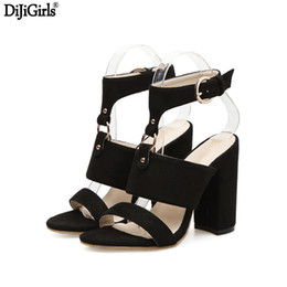 black punk sandals Coupons - Women Shoes Sandals Summer Heels Black Suede Cutout Open Toe Lady Shoes Women Punk Cross Strap Heels Tassel Sexy Heels Sandals