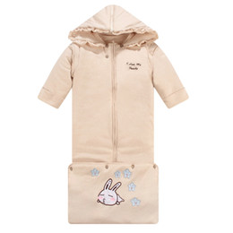 Wholesale Thicken Baby Sleeping Bag - Oversized Infant Baby Sleeping Bag Winter Thicken Organic Cotton Hooded Sleeping Bag For Children 0-3years Hight Quality