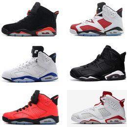 buy popular 3a66d 1825f Nike Air Jordan 6 AJ6 Retro 6 karminrote Basketballschuhe Classic 6s UNC  schwarz blau weiß infrarot niedrig verchromt Damen Herren Sport blau rot  oreo ...