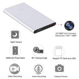 Wholesale Metal Detection - Mini Metal Shell 5000mAh Power Bank 1080P HD Camera Mini Camcorder Recorder DV DVR Motion Detection Video Support TF Card H4