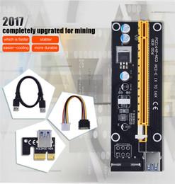 cables de la maquina Rebajas VER006 PCIe PCI-E PCI Express tarjeta vertical 1X 16x USB 3.0 Cable 4Pin SATA Fuente de alimentación para BTC Miner Machine OTH825