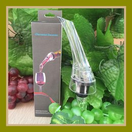 Wholesale Wholesale Wine Packaging - Red Wine Aerating Pourers with Retail Box Package Acrylic Wine Aerator Spout Pourer New Arrival Portable Wine Tools