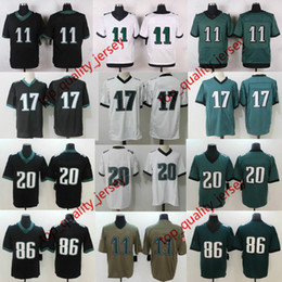 Wholesale Mens Games - DHL ePacket Shipping Mens American Football #11 Jersey Wholesale Green White Black #86 #20 American Football Game Elite Limited Jerseys