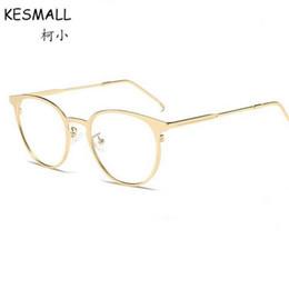 ffc00dfdb3cf5 KESMALL 2017 Summer Metal Eyeglasses Frames Women Men Fashion Transparent  Lens Black Glasses Frame Monturas De Gafas YL477
