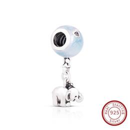 Braccialetto d'argento elefante all'ingrosso online-Charms DIY Nuova Collezione Autentico 925 Sterling Silver Elephant Elefante e Blue Balloon Charm Adatto per Bracciale 797239EN169