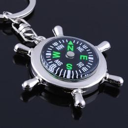 Schlüsselanhänger Zinklegierung Lenkrad Kompass Herrenanhänger Schlüsselanhänger Kleine Geschenke von Fabrikanten