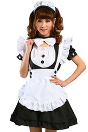 Uniformes de estilo japonês on-line-História de Xangai 7 estilos Japonês Doce Empregada Doméstica Vestido anime Inu Boku Serviço Secreto Trajes Cosplay Lolita Avental Uniforme Vestido Set