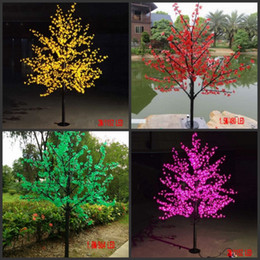 fiore m Sconti Led simulazione di albero di ciliegio lampada da giardino albero lampada esterna impermeabile decorazione lampada festa di compleanno di Natale decorazione di nozze