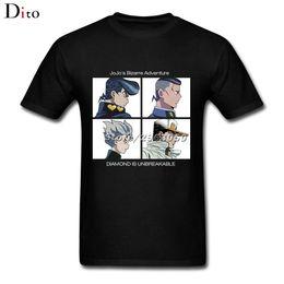 dfa41f6d6 2019 tommy hilfiger Jojo bizarro aventura t-shirt dos homens o-pescoço xs-