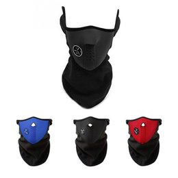 Wholesale face hoods - Outdoor Winter Warm Mask Cycling Mask Cover Face Hood Protection windproof Half Face covering Riding Bicycle Sports Masks