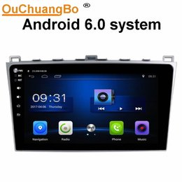 Wholesale Radio Gps Systems - Ouchuangbo car audio 1080 video touch screen android 6.0 system for Mazda 6 2008-2012 with gps navi BT SWC AUX USB mirror link