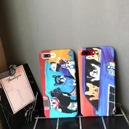 Fundas para iphone bulldogs online-Bulldog Phone Cases Cartoon Fun Spoof para Iphone X Unisex PC Todo incluido Hard Cell Phone Case para Iphone 6 7 8 Plus