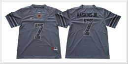 Wholesale Pro Sports Football - Ohio States Buckeyes #7 Dwayne Haskins JR. Mens College American Football Grey Sports Shirts Pro Team Jerseys Cheap Stitched Embroidery