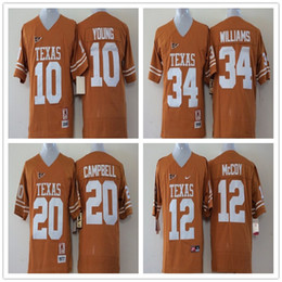 2018 texas longhorns jerseys Juventud 34 Ricky Williams 12 Colt McCoy 20 Earl Campbell 10 Vince Niños pequeños Niños Niños Texas Longhorns College Fútbol Jersey texas longhorns jerseys baratos