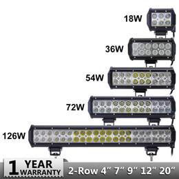 barra de luz 36w Desconto 18 w 36 w 54 w 72 w 108 w LED Bar para Offroad 4WD Truck Tractor Boat Trailer 4x4 SUV ATV Spot Inundação LED Light Bar LED Luz de trabalho