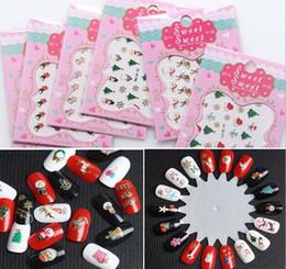 3d kunstbilder Rabatt 3D Weihnachten Stile Nail Art Wassertransfer Aufkleber Bunte Volle Tipps Entwickelt Stamping Schablone Bildplatte Schablone Nägel Werkzeug