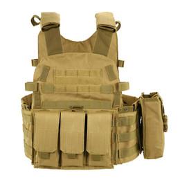 Chaleco táctico del ejército de alta calidad Wargame Body Molle Chaleco de caza CS Chaleco de los hombres al aire libre con el bolsillo de hidratación Titular Chaleco de camuflaje desde fabricantes