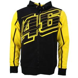Wholesale Vr Shirt - Free Shipping 2018 VR46 Hoodies MotoGP Jacket Motorcycle Sweatshirt Motorbike VR FORTY SIX Rossi Racing Shirt Moto Jersey