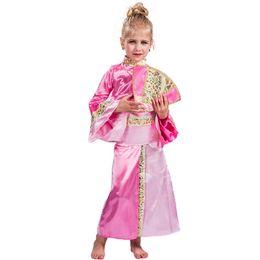 vestidos de meninas asiáticas Desconto Traje de gueixa para crianças Meninas vestido japonês para crianças