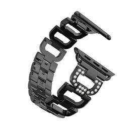 Accesorios reloj de pulsera online-enlace Correa de pulsera para reloj de apple banda 42 mm / 38 mm iwatch 3/2/1 acero inoxidable reloj de metal correa de muñeca reloj accesorios
