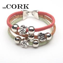 Wholesale Br Jewelry - whole saleNatural cork bracelet original handmade colorful follow beads cork women wood bracelet jewelry BR-203