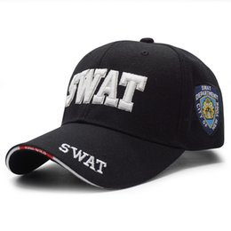 Wholesale Police Ball Caps - New Brand Police Baseball Cap Men Embroidery Army Tactical Snapback Caps Gorras Adjustable Unisex Casual SWAT Baseball Hat Bone