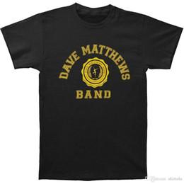 2019 benutzerdefinierte online-druck Benutzerdefinierte T-Shirts Online Kurzarm Mode Dave Matthews Band Herren Graphic Printed Casual T-Shirt Schwarz Normal Rundhalsausschnitt rabatt benutzerdefinierte online-druck