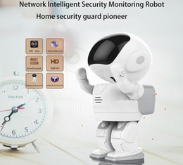 Wholesale New Ptz Ip Camera - New-Designed cute Robot style PTZ control HD 1080P home security ip network baby surveillance intelligent security Robot camera
