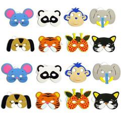Fantasia de espuma eva on-line-Espuma de EVA Animal Máscaras para Crianças Favores da Festa de Aniversário Vestir-se Traje Zoo Selva Partido Suprimentos