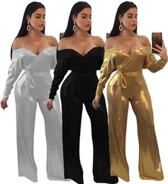 2018 Damenmode Sexy Boot Cut Playsuits Frühling Winter Vestidos Strampler Damen Nachtclub Bodys Party Abend Overalls von Fabrikanten