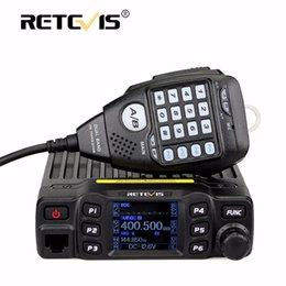 Wholesale Vhf Mobile Radios - Full Alloy Body Retevis RT95 Dual Band Mobile Car Radio Walkie Talkie 25W VHF UHF 200CH DTMF CTCSS DCS Speaker MIC+Program Cable