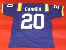 f5f3d742e575 Cheap retro  20 BILLY CANNON CUSTOM IANA STATE TIGERS JERSEY LSU HEISMAN  purple Mens Stitching top High end Size S-5XL Football jerseys