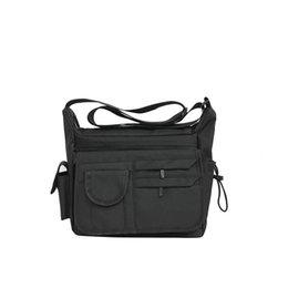 Sacos com marca japonesa on-line-Japonês mochila simples coreano ocasional bolsa de ombro dos homens da arte dos esportes saco do Mensageiro da lona bolsa de marca estudante mensageiro saco