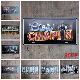 Wholesale club decor - Black White Cinefilm Metal Tin Sign Antique Artistic Conception Tin Poster For Bar Club Pub Hang Decor Iron Painting 15*30cm ZB