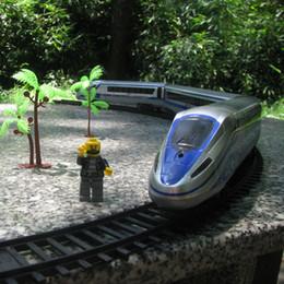 2019 электрическая железная дорога Высокоскоростной железнодорожный поезд в Китае модель поезда 18 шт. наборы электрический трек развивающие игрушки для cChildren электрические железнодорожные игрушки дешево электрическая железная дорога