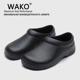 Wholesale Chef Prints - WAKO Hot Sale Men Chef Kitchen Working Shoes Casual Flat Work Shoe For Unisex Cook Working shoe Men