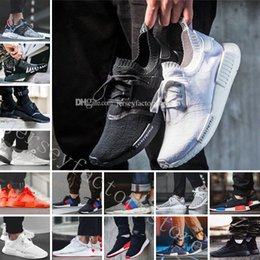 Wholesale Shoes Color Red - Cheap NMD R1 Japan Pack Tri-Color Triple Black Triple White Red Tri-Color R2 Primeknit Running Shoes for men sneakers Women Men NMDS boost